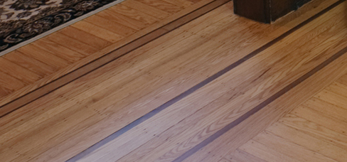 Custom Wood Floor Border Inlays Make Your Floor Stand Out