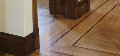 hardwood floor inlay installation
